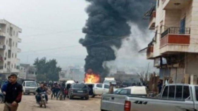 Afrin'de bomba yüklü minibüste patlama
