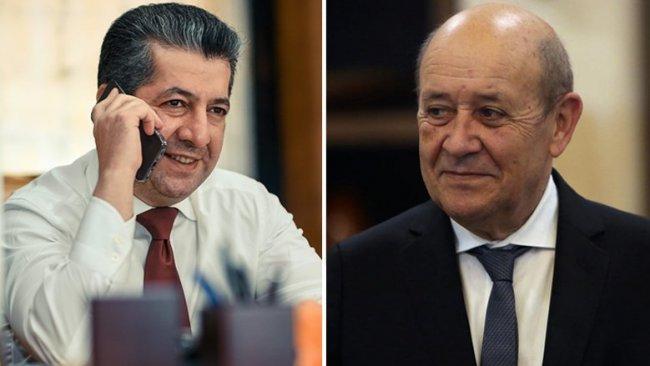 Başbakan Barzani, Fransa Dışişleri Bakanı ile telefonda görüştü