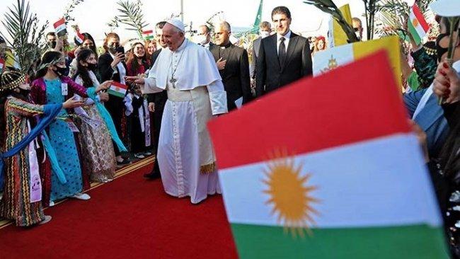 Papa Erbil'den törenle uğurlandı: 'Değerli Kürt milletine içtenlikle teşekkür ediyorum'