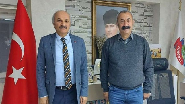 Saadet Partisi'nden Komünist Başkan Maçoğlu'na ziyaret