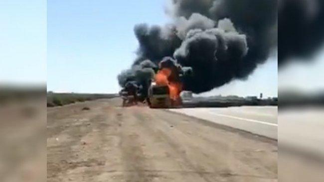 Irak'ta ABD'ye ait konvoya saldırı