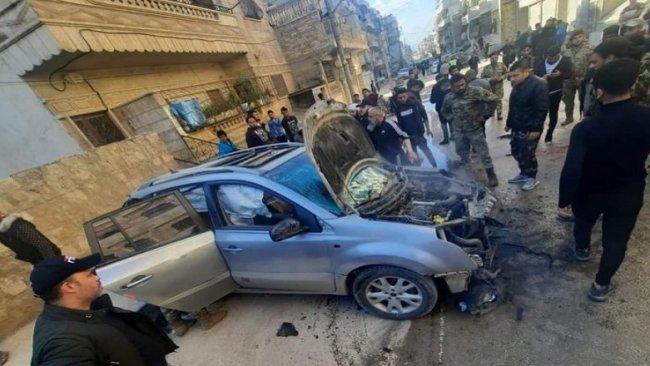 Afrin'de bomba yüklü araçta patlama