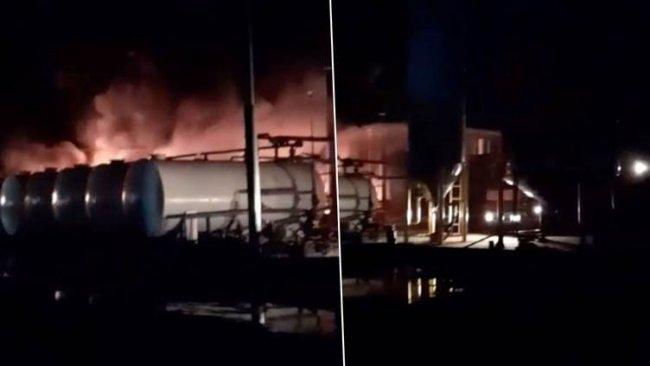 Erbil'de yakıt deposunda yangın