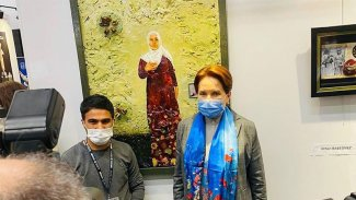 Akşener, Kürt sanatçının tablosunu satın aldı