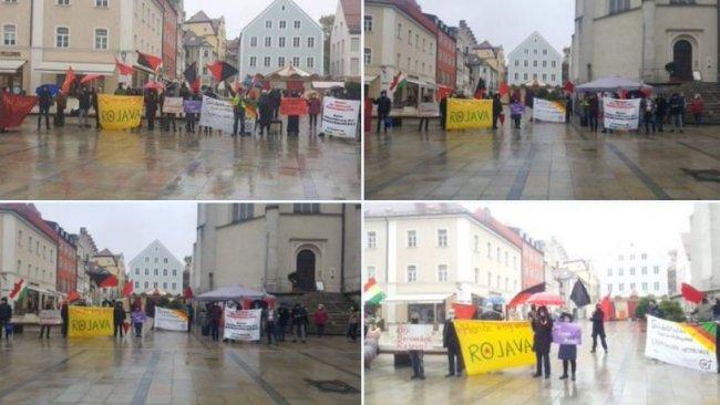 Almanya'da Rojava'ya destek yürüyüşü