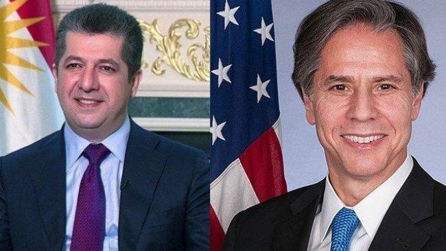 ABD Dışişleri Bakanı Blinken'den Başbakan Barzani'ye mesaj