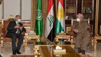 Başkan Barzani, Arap Birliği Genel Sekreteri Ebu Gayt ile bir araya geldi