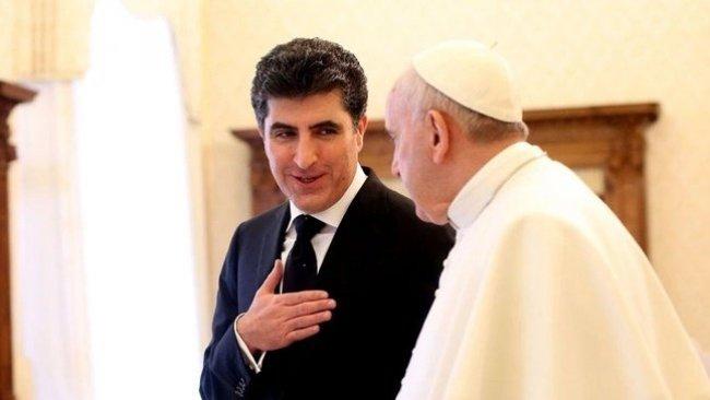 Papa Francis'ten Neçirvan Barzani'ye mesaj