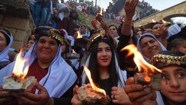 Ezidi Kürt Kardeşlerimizin Çarşema Sor Bayramı'nı Kutluyoruz