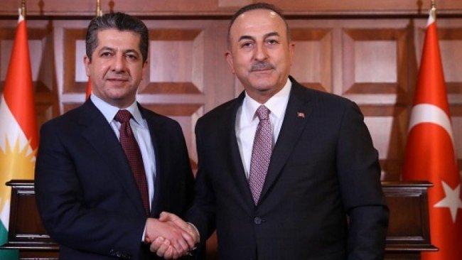 Başbakan Barzani, Mevlüt Çavuşoğlu ile telefonda görüştü