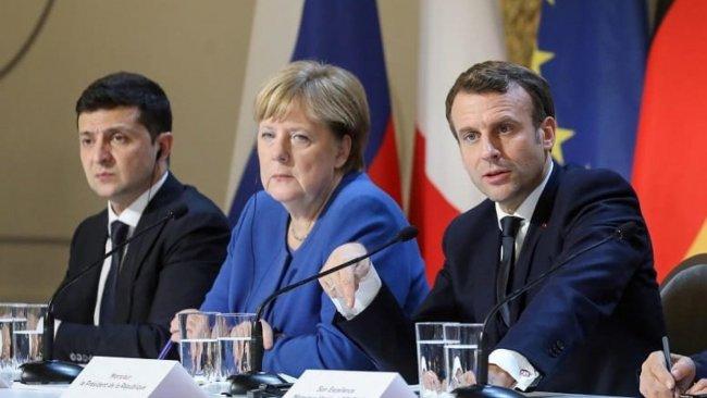 Macron, Merkel ve Zelenskiy'den Rusya'ya çağrı