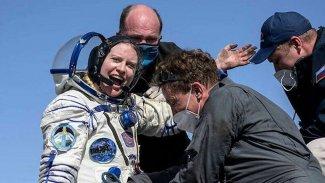 Van Gölü'nün uzaydan fotoğrafını çeken astronot Dünya'ya döndü