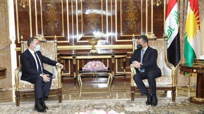 Başbakan Barzani, Türkiye Büyükelçisi ile ikili ilişkileri görüştü