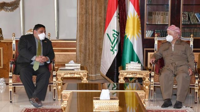 Başkan Barzani ABD'li yetkiliyle Rojava'yı görüştü
