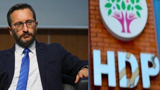 HDP ve Fahrettin Altun arasında Ermeni Soykırımı tartışması