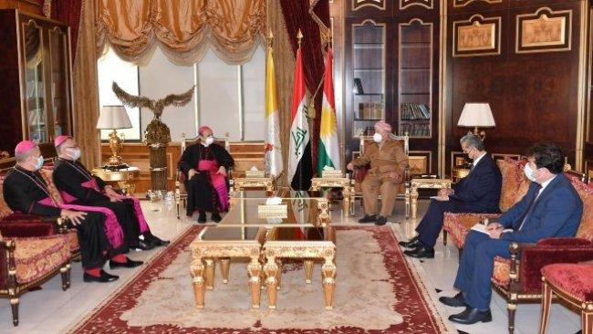Başkan Barzani: Papa'nın ziyareti tarihi öneme sahipti