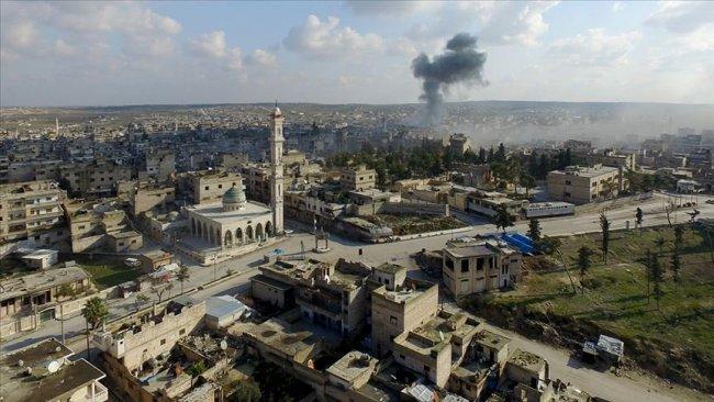 İdlib'de Türk askeri üssü yakınlarına hava saldırısı