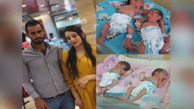 Rojavalı aile yeni doğan dördüzlerine 'Barzani, Mesud, Neçirvan ve Kurdistan' ismini verdi