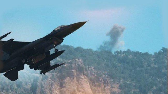 TSK, Kürdistan bölgesini bombaladı