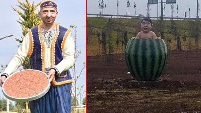 Diyarbakır'da kayyum tarafından yaptırılan karpuz heykeli tartışma yarattı