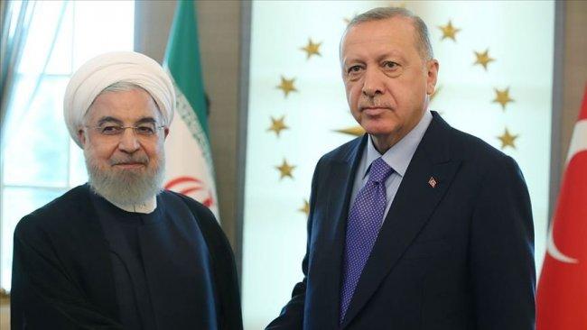 Erdoğan ile Ruhani ile görüştü
