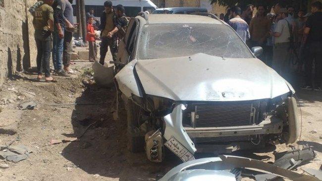 Afrin'de bomba yüklü araç infilak etti