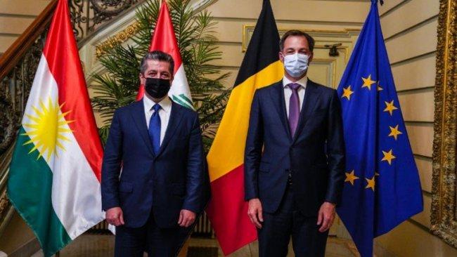 Başbakan Barzani, Belçika Başbakanı ile bir araya geldi