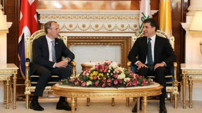 Başkan Neçirvan Barzani, İngiltere Dışişleri Bakanı ile görüştü
