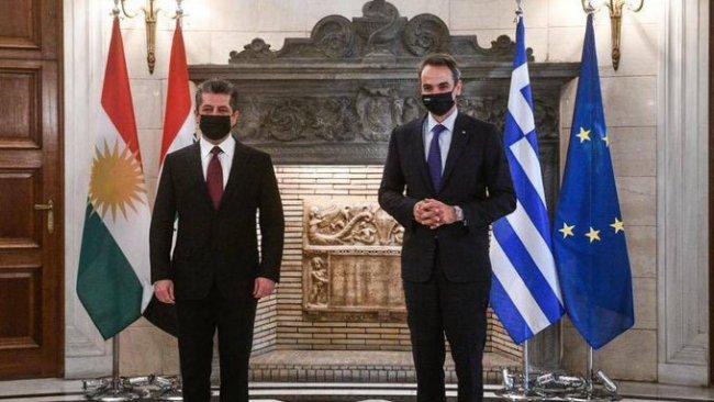 Mesrur Barzani ile Miçotakis, Atina'da görüştü