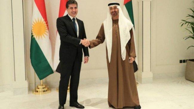Neçirvan Barzani ile Abu Dabi Prensi El Nahyan bir araya geldi