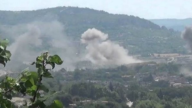 Savaş uçakları Süleymaniye bölgesinde bir aracı bombaladı