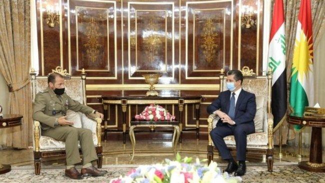 Başbakan Mesrur Barzani, İtalya'nın askeri güçler komutanını ağırladı