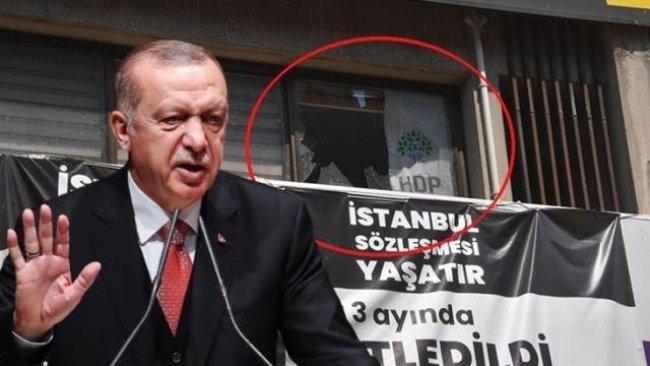 Erdoğan, HDP İzmir İl Binası'na düzenlenen saldırıyı kınadı