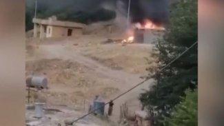 Savaş uçakları Süleymaniye'de bir aracı vurdu!