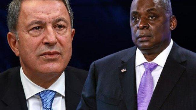 Hulusi Akar, ABD Savunma Bakanı Lloyd Austin ile görüştü