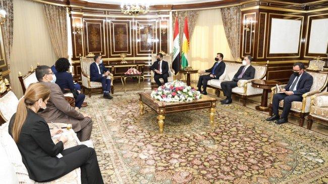 Başbakan Barzani, BM heyeti ile bir araya geldi