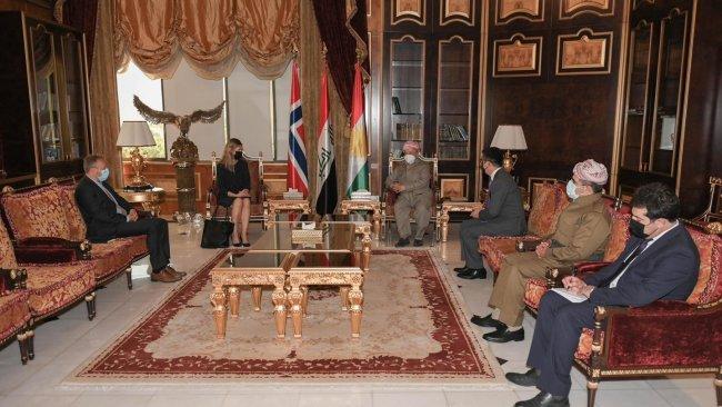 Başkan Barzani'den Norveç'e teşekkür