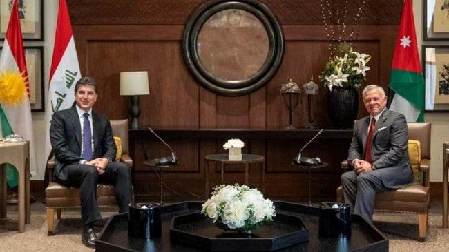 Başkan Neçirvan Barzani Ürdün Kralı II. Abdullah ile bir araya geldi
