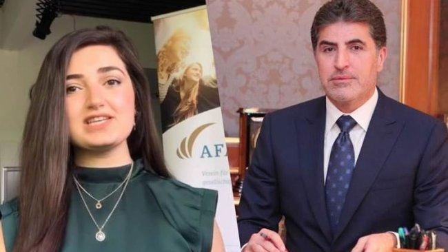 Başkan Neçirvan Barzani'den, 'Diana Ödülü' alan Rodî Elî'ye tebrik mesajı