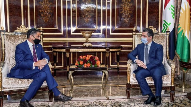 Başbakan Barzani, ABD'nin yeni Erbil Başkonsolosu ile görüştü