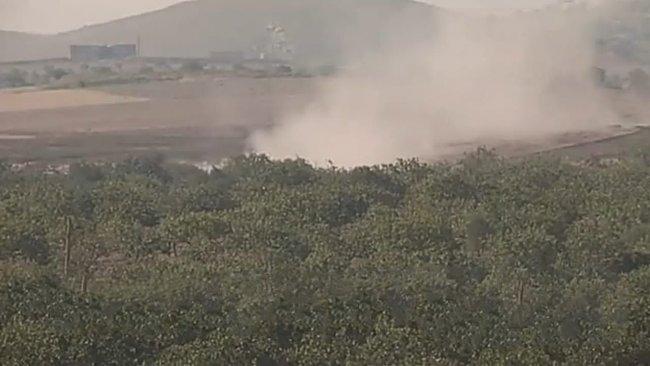 Afrin'de yola döşenen mayın patladı