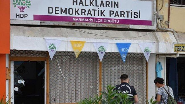 Marmaris'te HDP binasına silahlı saldırı!