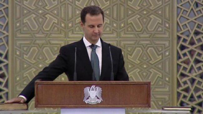 Beşar Esad, seçimin ardından yemin ederek görevine başladı
