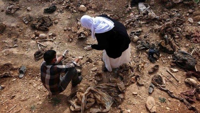Şengal'de 3 toplu mezar tahrip edildi