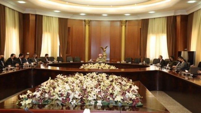 Başkan Barzani, Kürdistan Gençlik Konseyi temsilcilerini kabul etti
