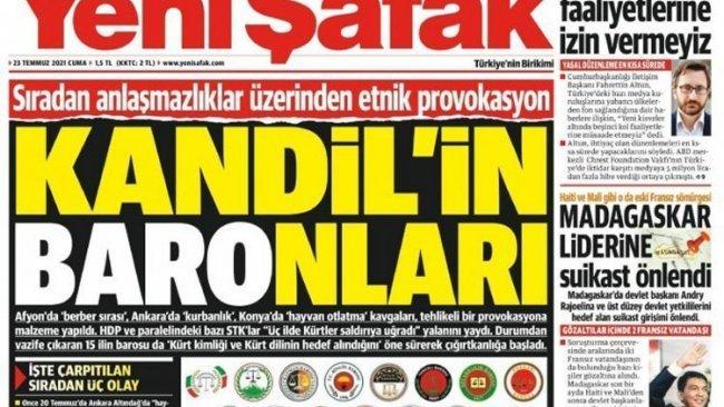 Diyarbakır Barosu'ndan Yeni Şafak hakkında suç duyurusu
