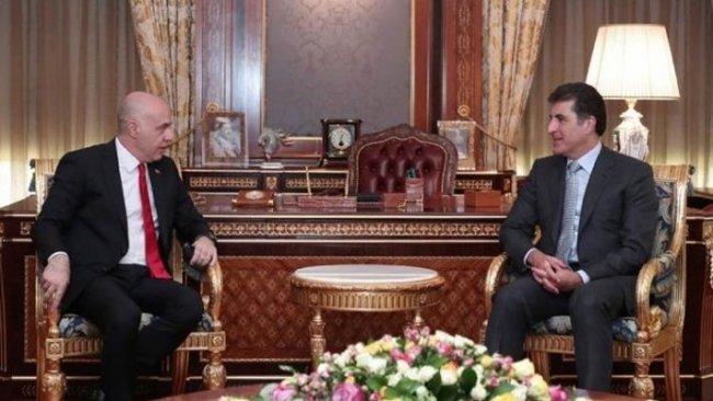 Neçirvan Barzani, Türkiye'nin yeni Bağdat Büyükelçisi ile görüştü