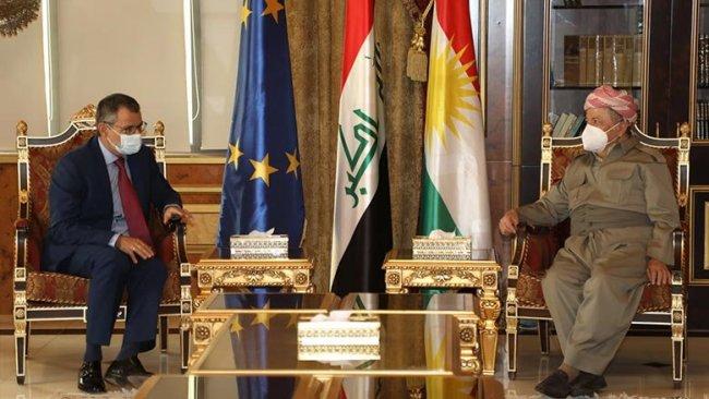 Başkan Barzani, AB Büyükelçisiyle Suriye'de Kürtlerin geleceğini görüştü