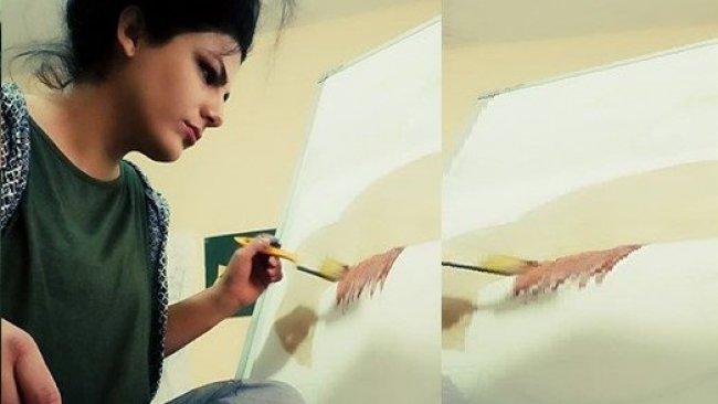 Altın ve boyalarla harikalar yaratan Kürt kadın ressam: Kevok Cemile Çiçekçi