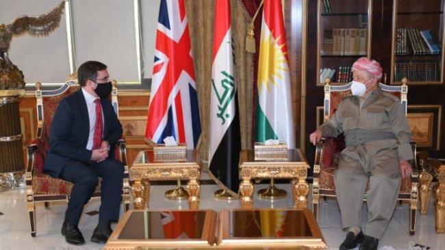 Başkan Barzani, İngiltere'nin yeni Bağdat Büyükelçisi ile bir araya geldi
